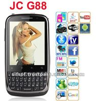 JC G88 Android 2.2 cell phone WiFi TV Java Dual camera Dual active SIM Black