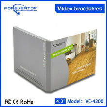 China factory supply competitive price 4.3 inch video brochure for brand promotion
