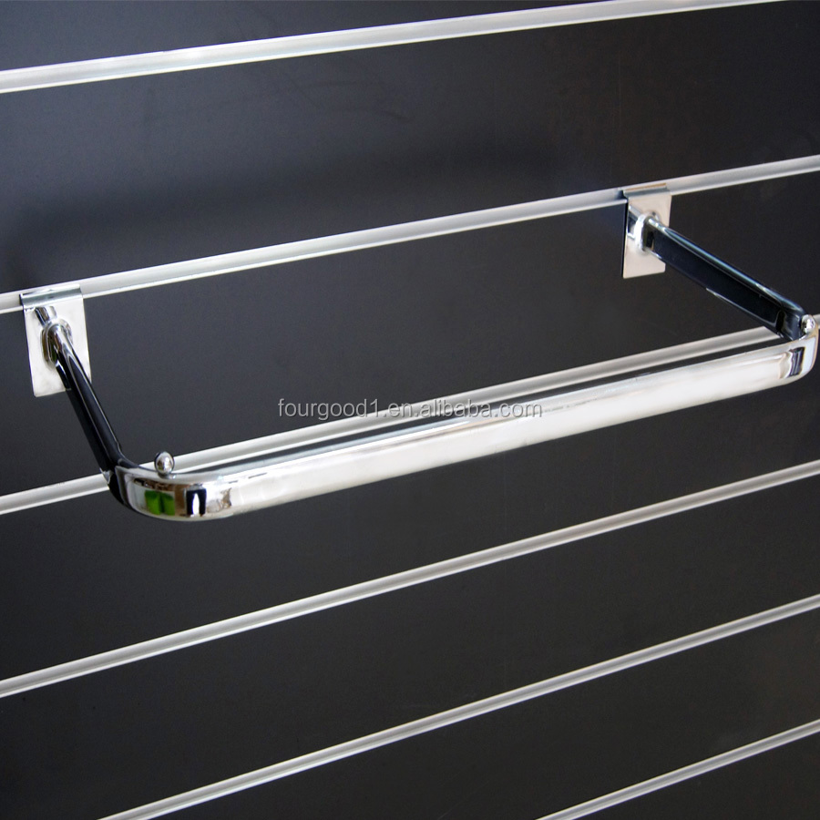 U sharp clothes shop display hanging rail/ clothing display rack