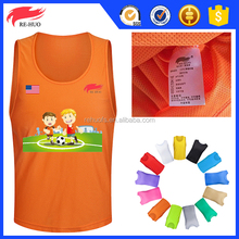 2017 football bibs training mesh vest sports organic pinnies