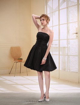 A-line Sweetheart Short / Mini prom dress Organza with Party Dress D0007