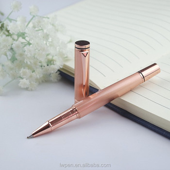 Wholesale metal pen with level and screwdriver rose gold pen with logo