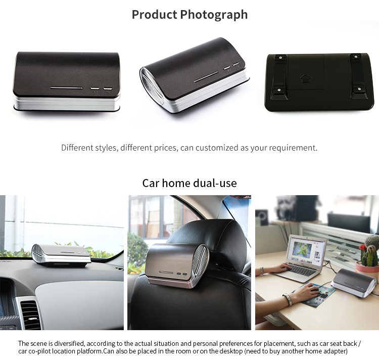 Car Air Purifier HEPA Filter Anion 12V Air Purifier for Home