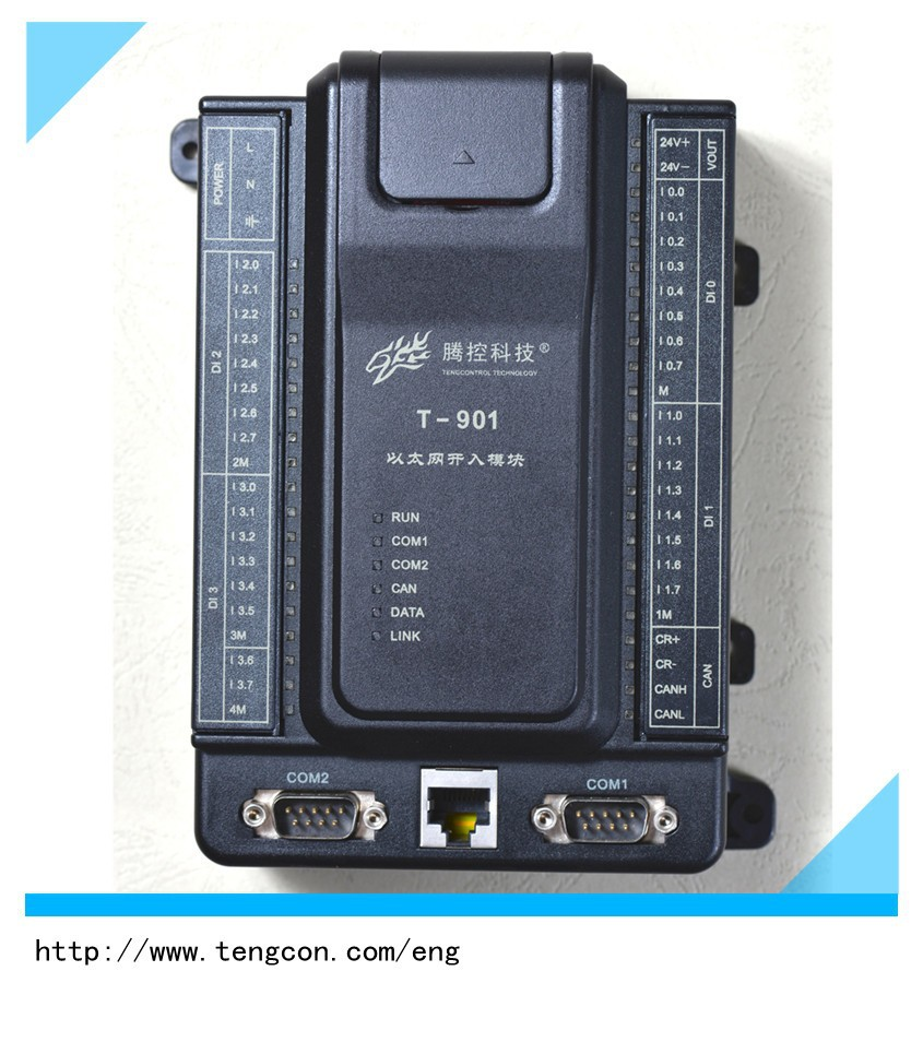 TENGCON PLC T-901 Industrial Ethernet Digital input PLC Controller with wide temperature