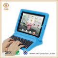 Removeable bluetooth keyboard case for ipad, eva for ipad case with keyboard