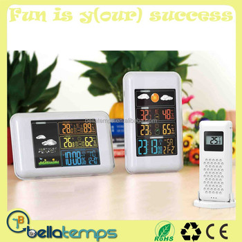Weather Station Clock With Outdoor Sensor
