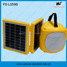 2W portable solar operated bulb with phone charger