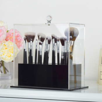 custom acrylic makeup brush storage box
