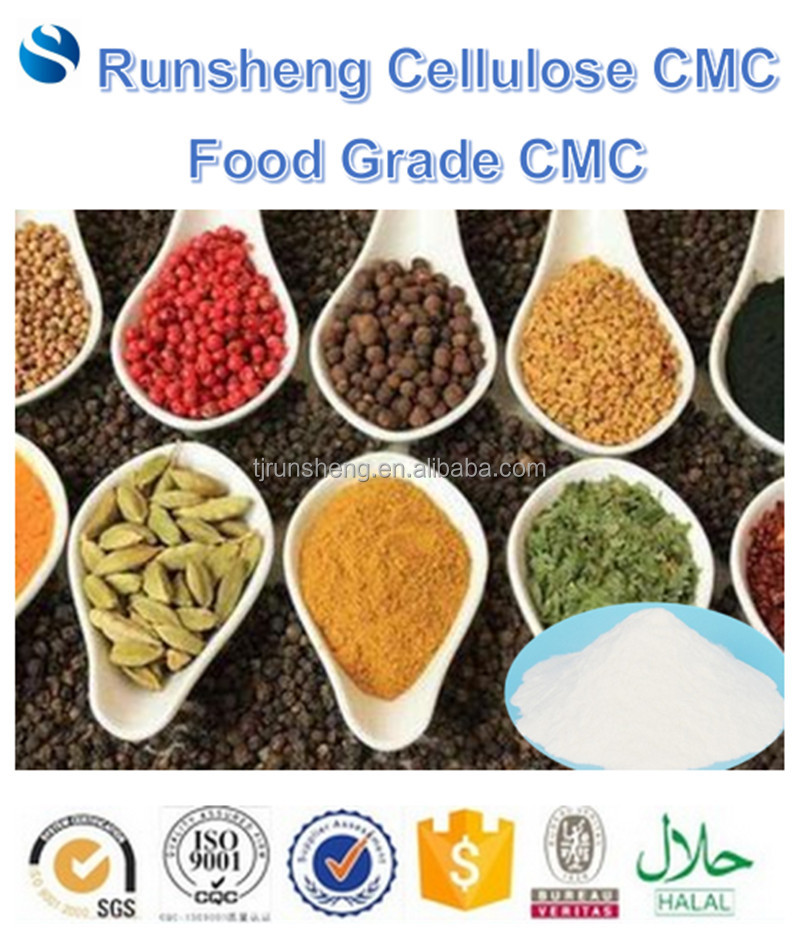Condiment seasonning food grade cmc FH2500 FH3500 FH500 Sodium Carboxymethyl cellulose food additives Kosher HALAL