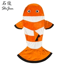 ShiJ Tails Clownfish Blanket For Kids