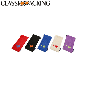 Factory custom color satin soft eyeglasses pouch,case glasses