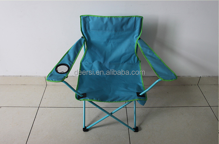 Friut green outdoor folding camping chair alumium frame with cup holder