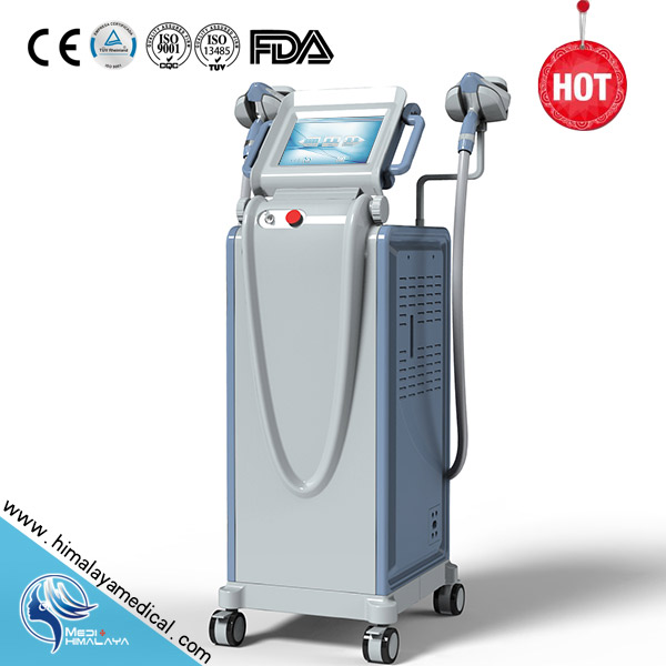 Beauty Equipment of IPL/SHR/E-light/RF systems with ICE handles for fast hair removal machine