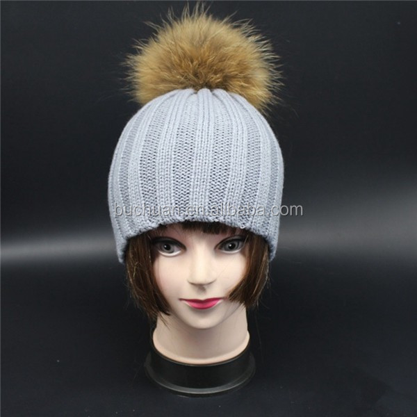 Economical custom design beanie wool fur hat