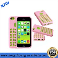 2014 New coming Hollow hole dots silicon cell phone case for iphone 5c