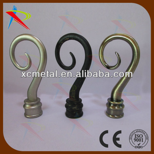 Guangdong,China,hardware factory offer high quality silver/black/antique brass drapery hardware