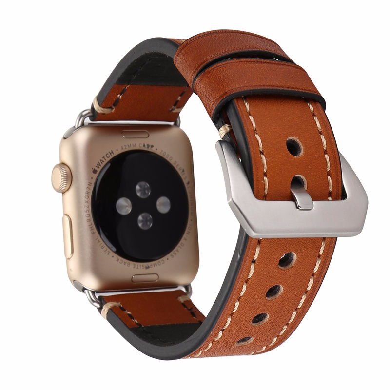 Amazon Hot Selling Genuine Leather Watch Band for Apple Watch, For Apple Watch Leather Band