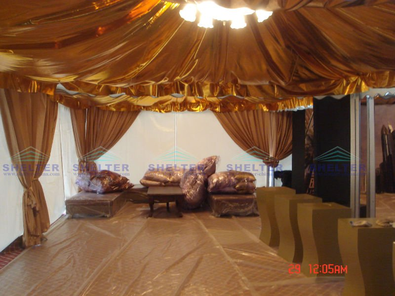 Indian tent marquee tent for events and wedding with wedding decoration for sale