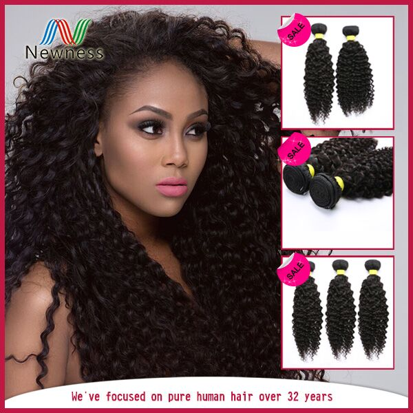 100% Unprocessed Tangle Free Wholesale raw indian remy kinky curly hair