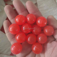 25mm red polypropylene hollow plastic balls