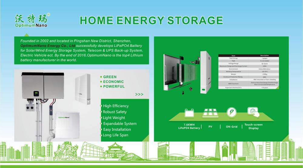 7.2KWH LiFePO4 Battery Mechanical Design For Home Energy