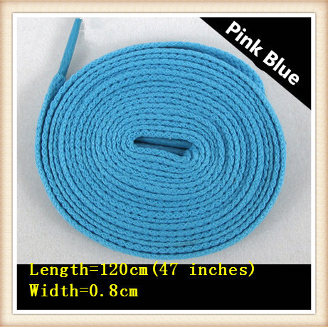 120cm/47'' fashion flat custom polyester rope shoe laces for asics shoes