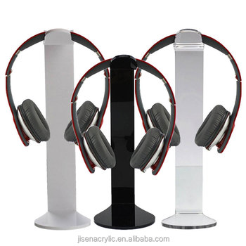 JISEN Wholesale Clear Acrylic Headset Display, Acrylic Headphone Stand