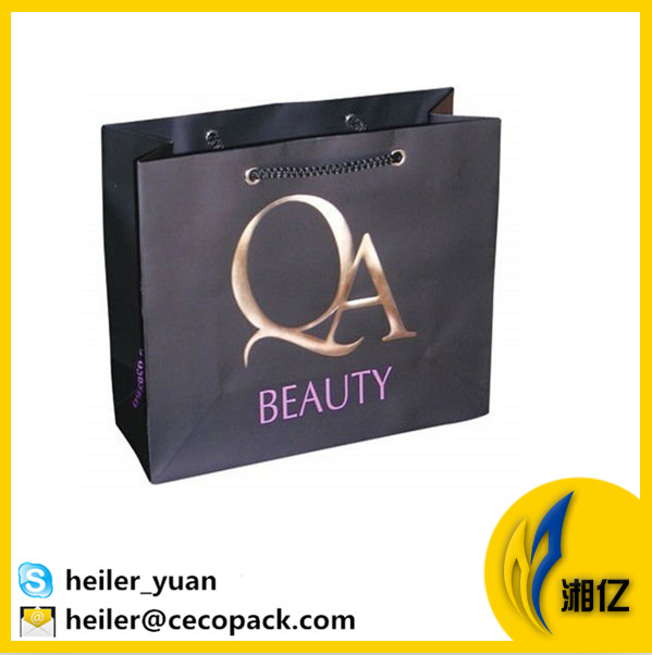 Optional handles luxury gift packaging hot stamping paper tote bag