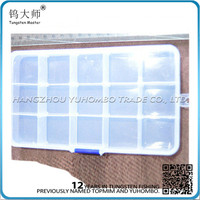 Removable Dividers Clear Plastic fishing tackle seat box