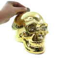 custom make plastic money box,human skull shape money box,custom design pvc money box