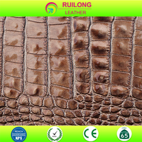 Fake CROCO Crocodile skin leather for making TV bench ,dresser,jewel case leather cover