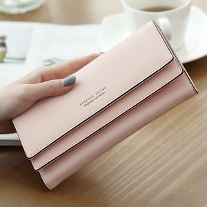 New Fashion China Manufacturer Wholesale Small MOQ Long Wallet Women Ladies Wallets Wholesale