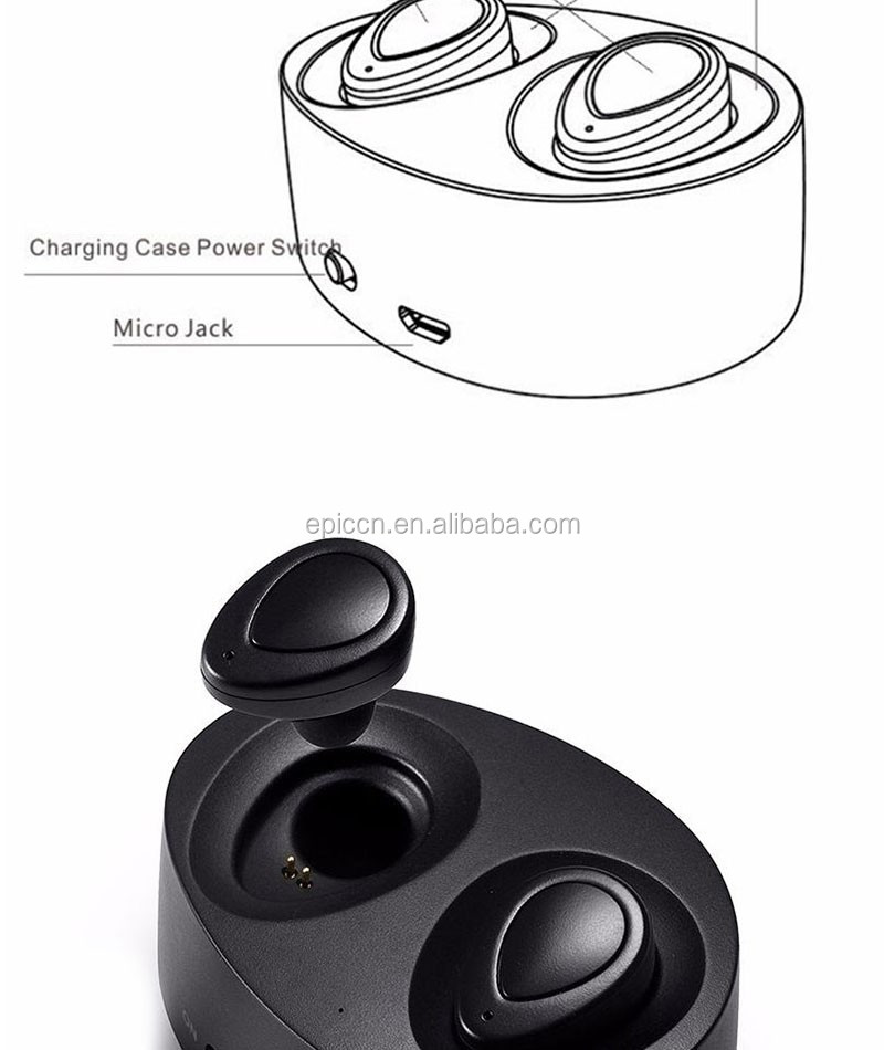 custom logo tws earbuds earphones with charging station wireless earphone headphone