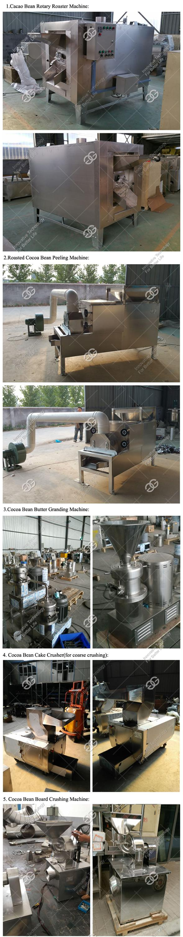 Reasonable Price Groundnuts Almond Powder Roasting Machine Cocoa Bean Butter Processing Line