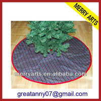 Alibaba china new custom christmas decoration product country style christmas tree skirt personalized christmas tree skirt