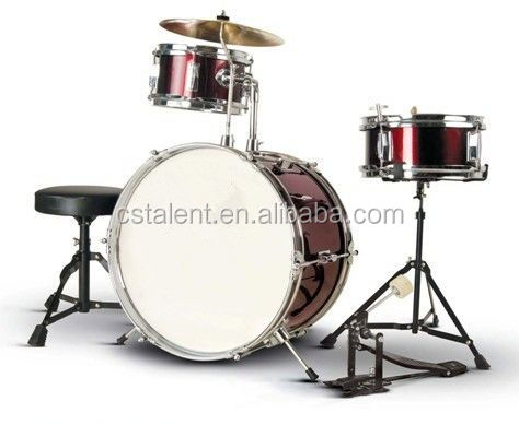 16*2lcd module electronic drum set with golden cymbals
