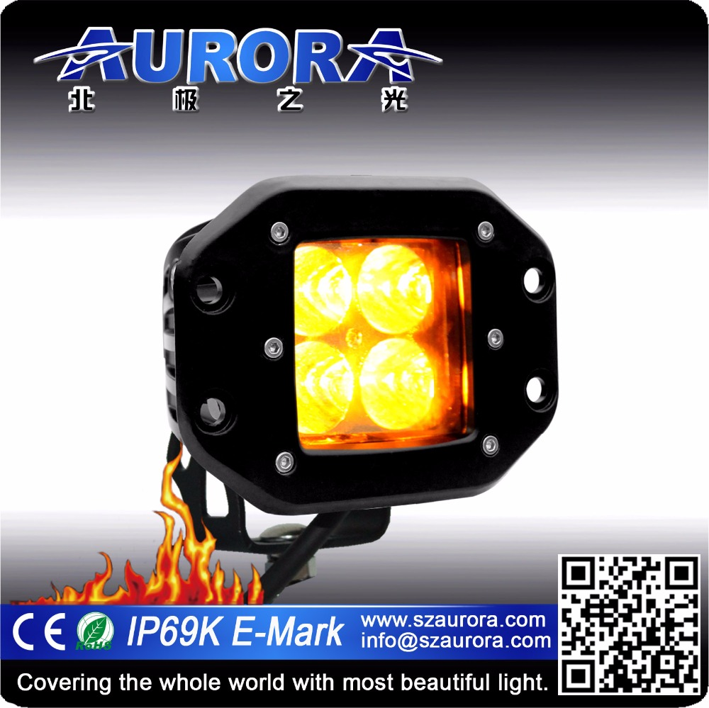 Aurora IP69K 2 inch amber led work light high brightness led driving light bar