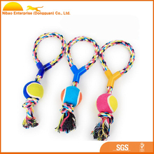 Hot sale dog chew rope rubber ball pet traning toy
