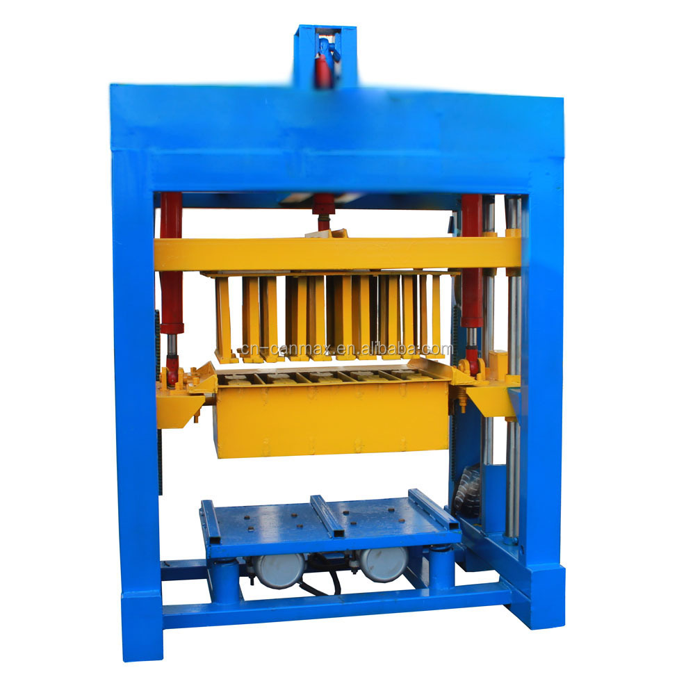 qt4-20 egg layer concrete block making machine, mobile egg laying block molder