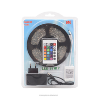 12V 3528/2835 RBG Suit SMD waterproof 150 &300 leds/ 5 meters led control and flexible RGB led strip