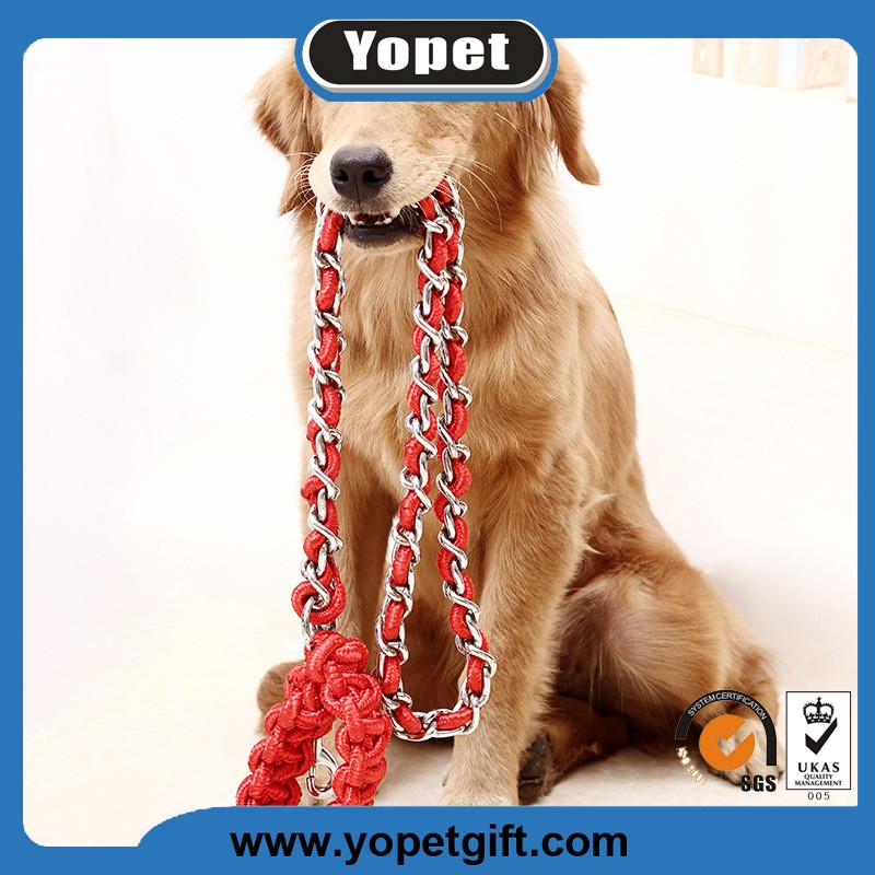 High Quality Custom Metal Chain Dog Collar Leads Dog Leash Manufacture