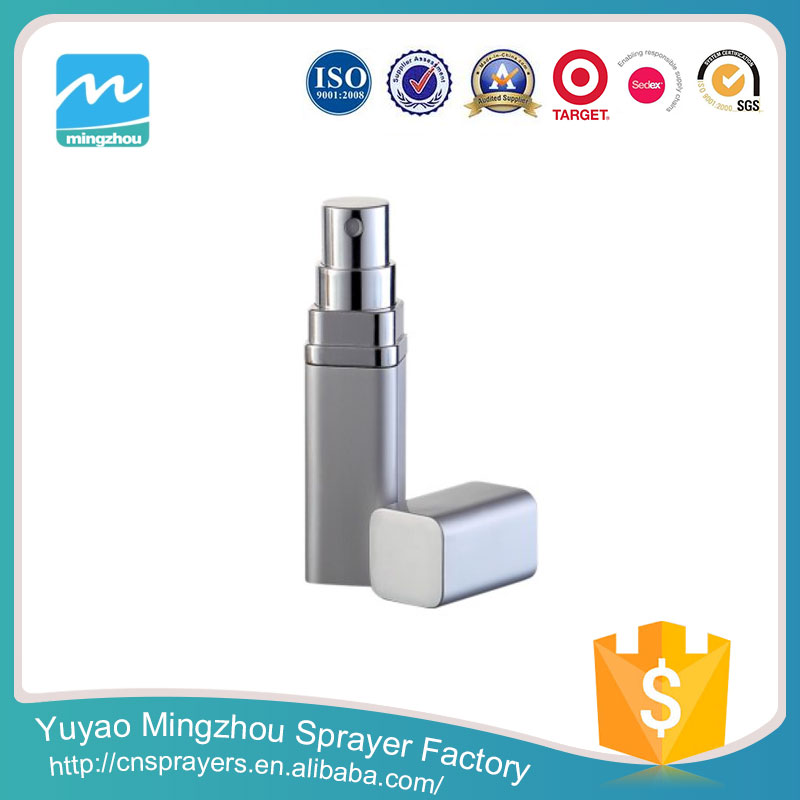 Manufacturer Great Quality Delicated Appearance Silver Aluminium&Glass MZ-C08 Perfume Container