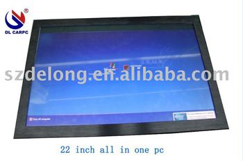22''Mutil Dot IR SAW touch lcd pc , touch all in one pc