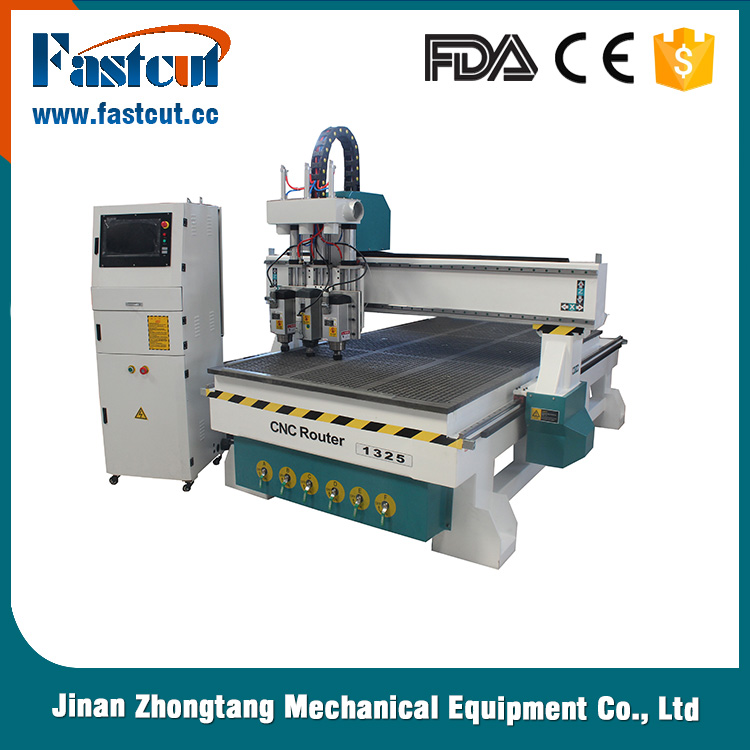 Three spindle pneumatic tool changer wood carving machine door panel 3d cnc router