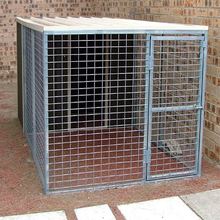 Alibaba high security best selling top used commercial dog kennel / powder coating dog kennel