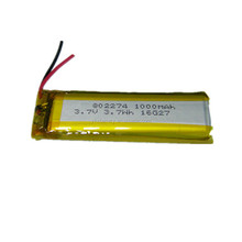 li-ion battery 3.7V 1000mAh YK 802274 rc helicopter lithium ion polymer lipo rechargeable batteries battery with PCM