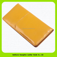 15209A New arrival leather passport holder / wallet / case / cover with 7 card slots for credit card/ bank card & 1 pen slot