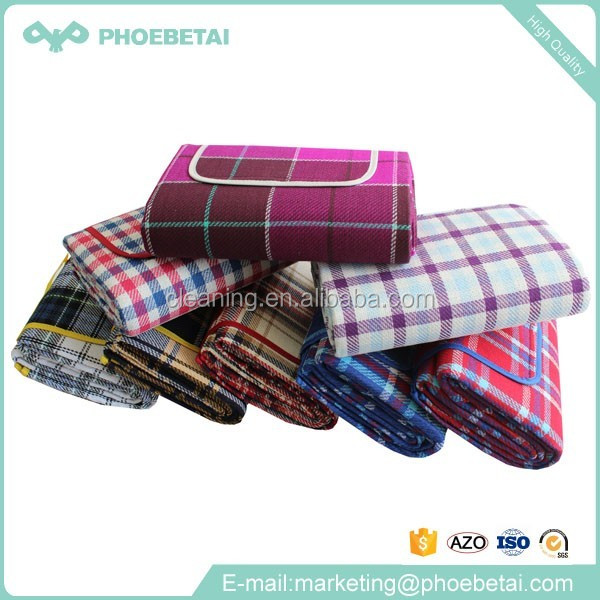 Wholesale customized picnic outdoor tartan picnic blanket waterproof