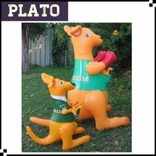 Australia plastic kangaroo for zoo/decorative inflatable kangaroo animal toy