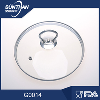 Various Size 14cm To 40cm Clear Tempered Glass Lid